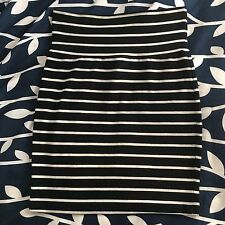 L8ter Women Short Skirt SizeS Stripe Cotton Made In USA