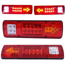 2pcs 12V 19 LED Trailer Truck Tail Stop Turn Light Indicator Reverse Lamp Red