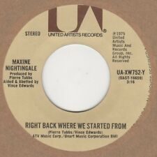 Maxine Nightingale Right Back Where We Started From United Artists UA-XW752-Y So