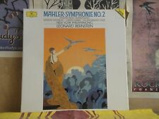 MAHLER SYMPHONIE NO. 2, BERNSTEIN NY PHILHARMONIC - DGG DOUBLE LP 423 395-1