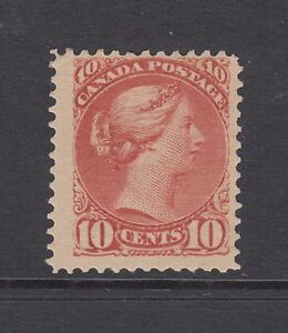 Canada Sc 45 MLH. 1888 10c brown red Queen Victoria