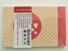 Mini carnet Amour beige 11x7cm 30 feuilles Artemio DIY scrapbooking papeterie
