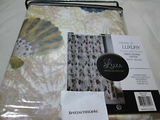 New Luxa Hotel Collection Fabric Shower Curtain BEACH LIFE NATURAL - Sea Shells