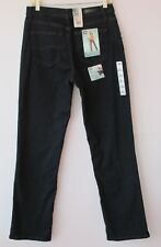 LEE Relaxed Fit Straight Leg Stretch Jeans 10 Long NWT $44 At Waist Dark Denim