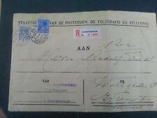 Nederland 185 en 193 op aanget brief PTT afd zegelverkoop - Wenen (gevouwen)