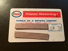 Humble Oil & Refining Company 1972 -1973 Vintage Collectors Credit Card