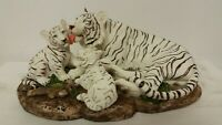 White Tiger and Cubs, Decor Statue, Tiger King, NEW!