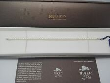 """Bracciale """"River"""" in perle d'acqua dolce e oro bianco 18 kt"""