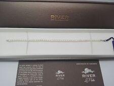 "Bracciale ""River"" in perle d'acqua dolce e oro bianco 18 kt /bracelet of pearls"