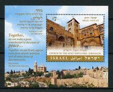 Israel 2015 MNH JIS Vatican Church of Holy Sepulchre 1v S/S Churches Stamps
