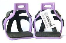 Amidale aluminium flexible ROULER EN CAGE sécurité cheval étriers violet 12.1cm