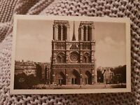 Notre-Dame - The Facade - Paris - Vintage Postcard