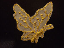 GOLD METALLIC BUTTERFLY EMBROIDERY APPLIQUE PATCH EMBLEM LOT (48 DOZEN)