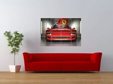 Sports Car Automobile Red Giant Wall Art Poster Print