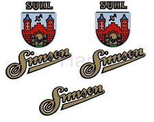 Simson SR1 Aufkleber 2x Suhler Wappen mit Simson und 1x Simson SR2, SR2E, AWO