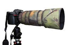 Nikon 80 400 Mm Af-s Ed Vr Neopreno Lente protección Abrigo cubierta verde Camo Negro