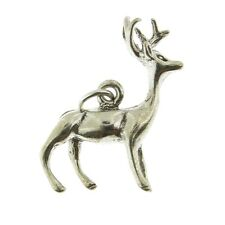 925 Sterling Silver Reindeer Charm Made in USA