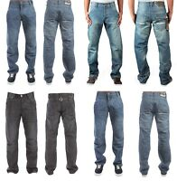 Mens ENZO Straight Leg Jeans In 3 Colours Regular Fit All Sizes Only £9.99