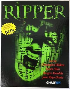 Ripper 6 Disc Gametek 1996 PC CD-Rom Big Box Game - New / Complete / Rare