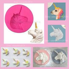 Unicorn silicone mold for fondant, chocolate, resin, clay. Molde unicornio