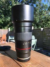 Samyang 135mm f2 Sony Montaje. solo 8 meses E Antigua. Excelente Estado.