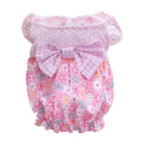 Pet Dog Dress Skirt Puppy Princess Apparel Maltese Yorkie Pink Clothes XS S M