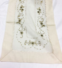 Elegant  Embroidery Table Runner Beige VCHR-26
