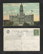 1912 WAYNE COUNTY COURT HOUSE DETROIT MICH POSTCARD