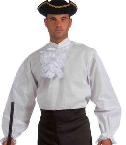 Ruffled Pirate Shirt Renaissance Gothic Poet Colonial Vampire Dracula Seinfeld