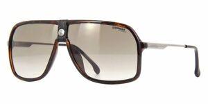 CARRERA 1019/S 0086 HA Sunglasses Dark Havana Frame Brown Gradient Lenses 64mm