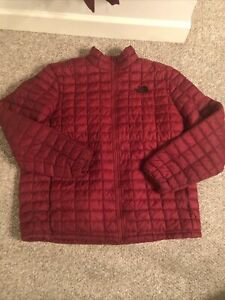 NWOT Men's The North Face Thermoball Puffer Eco Zip Jacket Sz XXL Red