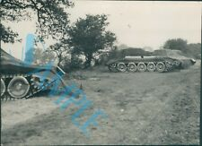 Orig WW2 Photo Operation Bodyguard D Day Deception Inflatable Tank  Positions
