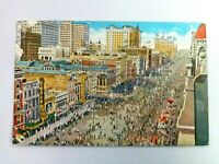 Vintage Postcard Mardi Gras Crowds on Canal Street New Orleans LA Posted 1947