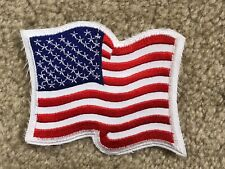 """3 5/8"""" UNITED STATES AMERICAN FLAG EMBROIDERED PATCH IRON ON APPLIQUE PATCH--013"""