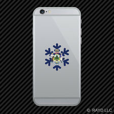 Maine Snowflake Cell Phone Sticker Mobile ME snow flake snowboard skiing skii
