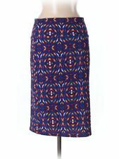 Women Lularoe Cassie Navy Geometric Pencil Straight Skirt Size M