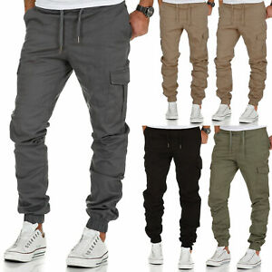 Herren Cargo Stretch Jogger Chino Hose Jeans Sweatpants Sweathose 7006