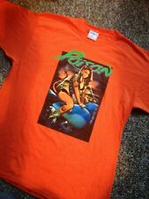Poison Concert T-Shirt New Size Large Orange 2 Sided From Georgia Show Michaels
