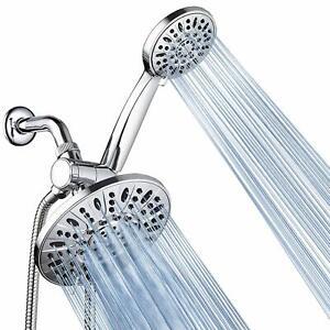 AquaDance® Multi-Setting Chrome Rainfall Shower Head Combo