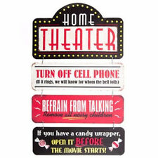 HOME THEATER Metal Signs Drive In Cinema Popcorn Poster Movies Man Cave Decor