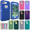 For Apple iPhone 7 7 Plus 8 8 Plus Armor Hybrid Dual Layer Shockproof Case Cover