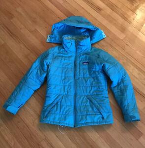 Women Patagonia Winter Hooded Jacket M Blue