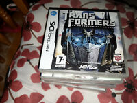 Transformers Revenge of the Fallen (Nintendo DS) spanish inserts new sealed DS