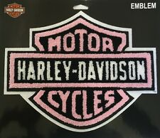 Harley Davidson Pink B&S Premium Chenille Patch Emblem Motorcycle Vest HD11002