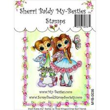 NEW My-Besties Clear cling Rubber Stamp FAIRIES WEE WINGED ONES BEST FRIENDS