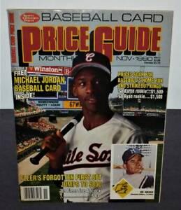 Nov 1990 SCD price guide w/ MICHAEL JORDAN insert 1st baseball card NM/MINT