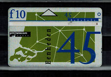 45 Einheiten Telefonkarte Niederlande zu 10 Gulden gebraucht bitte lesen