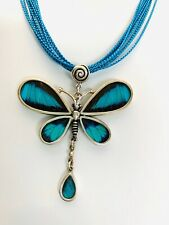 Real Butterfly Wing Dragonfly Pendant 9.50 Silver