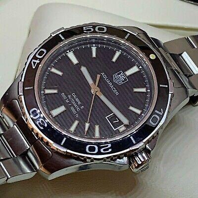 Tag Heuer Aquaracer Ref Wak2110 Automatic 41mm  Ceramic Bezel 500 M Diver Watch