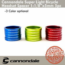 """Cannondale Super Light Headset Spacer 1-1/8"""" x 5mm 5pc Alloy Head Tube Spacers"""